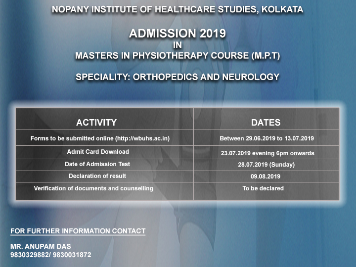 Physiotherapy course in Kolkata, Learn physiotherapy in Kolkata